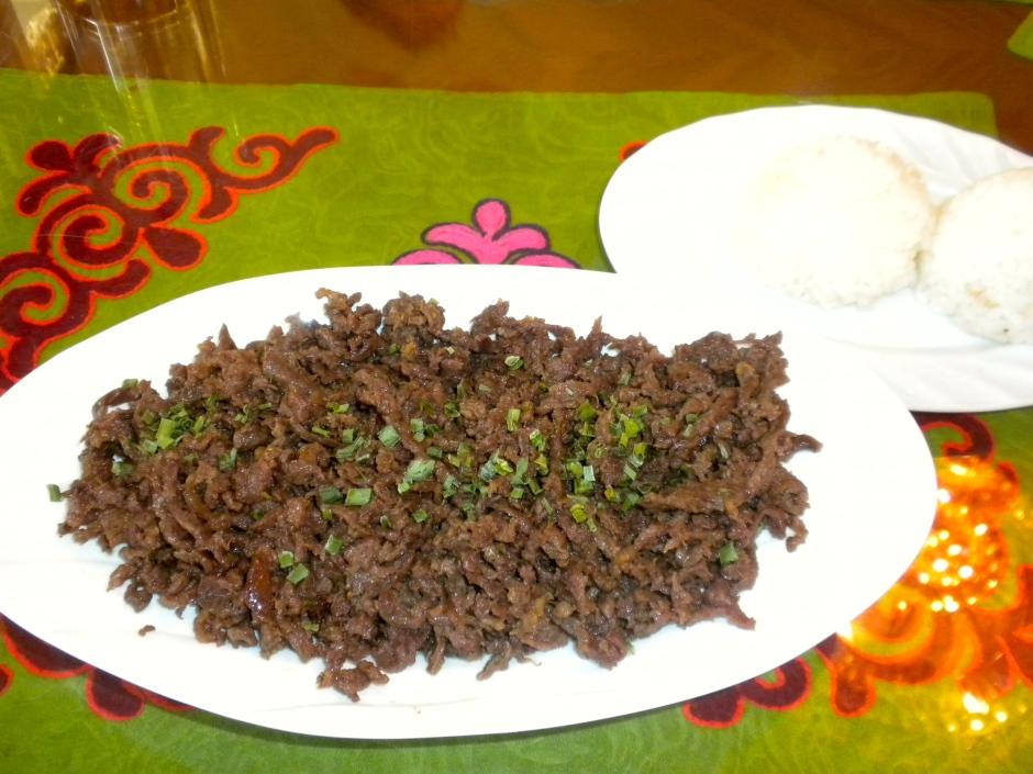 Mongolian horse meat - quite tasty
