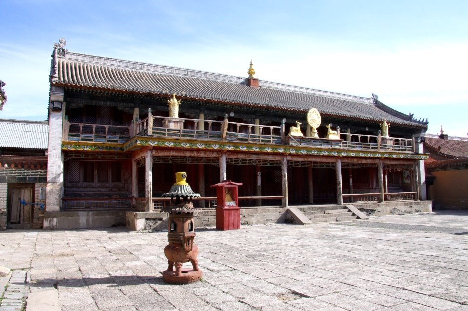 The main temple inside the monastery