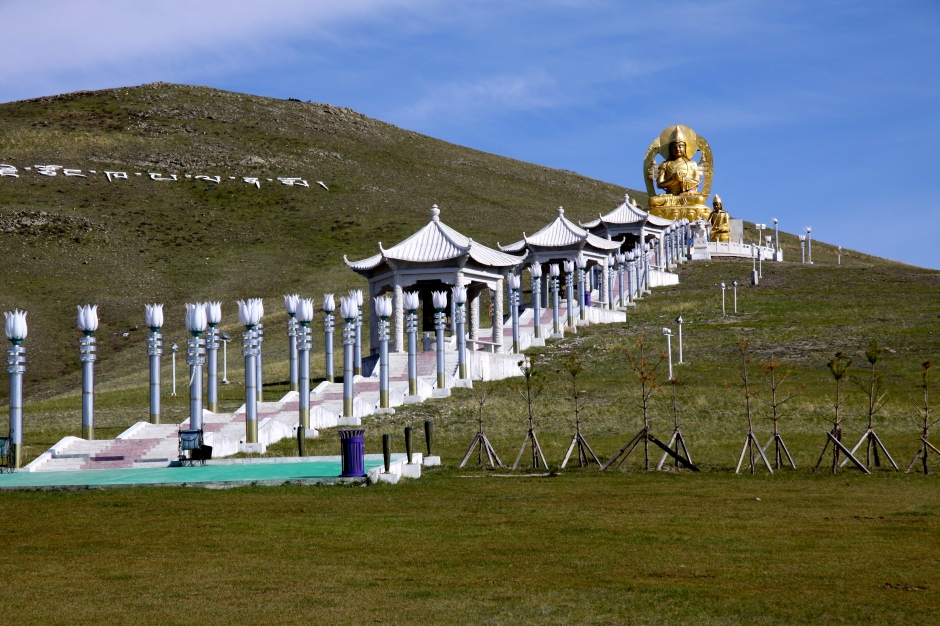 This Buddha has a commanding position on the hill above the monastery