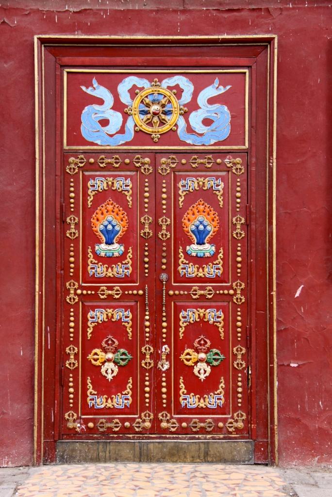 A temple door