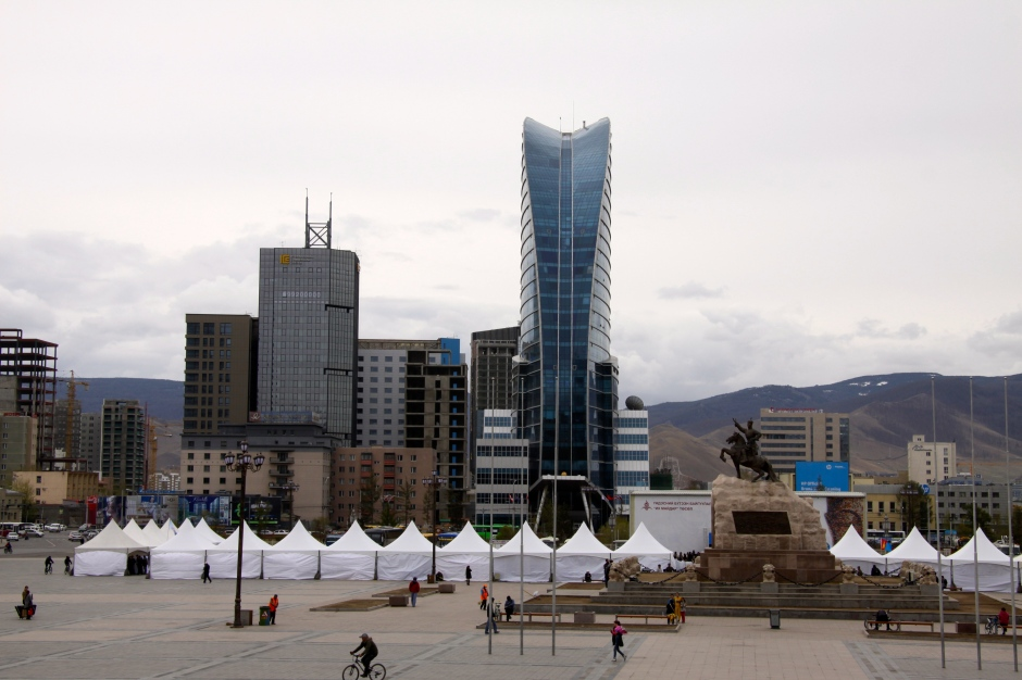 Ulaanbaatar city as viewed from the Parliament Building