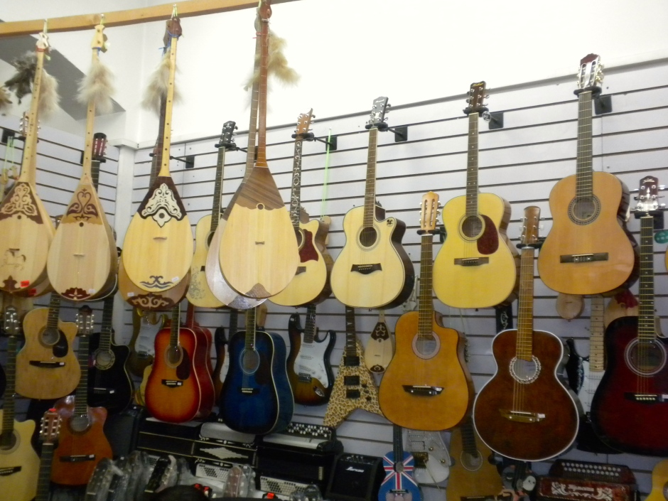 Guitar stall in the market