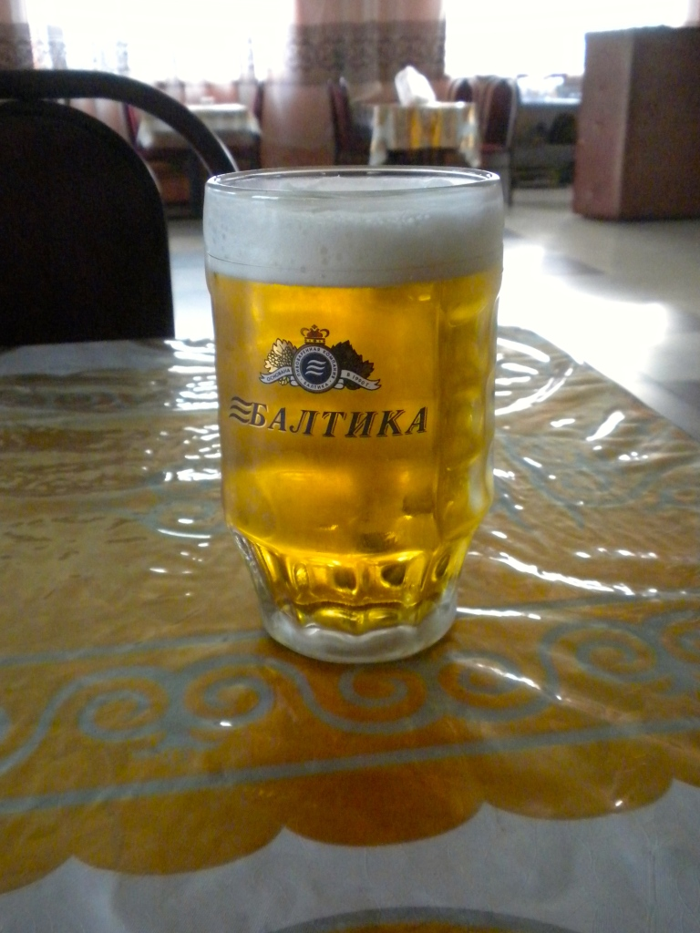 Cold local draught beer
