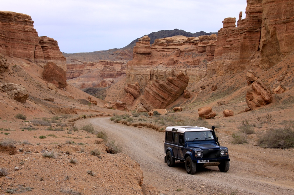 Driving back out of the canyon