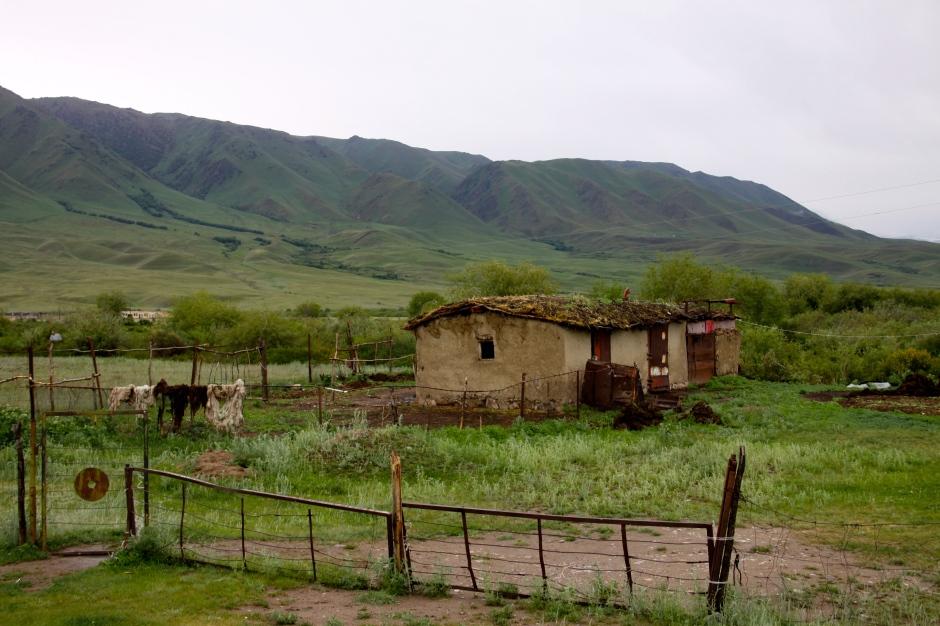 Village scene - Suusumyr Valley