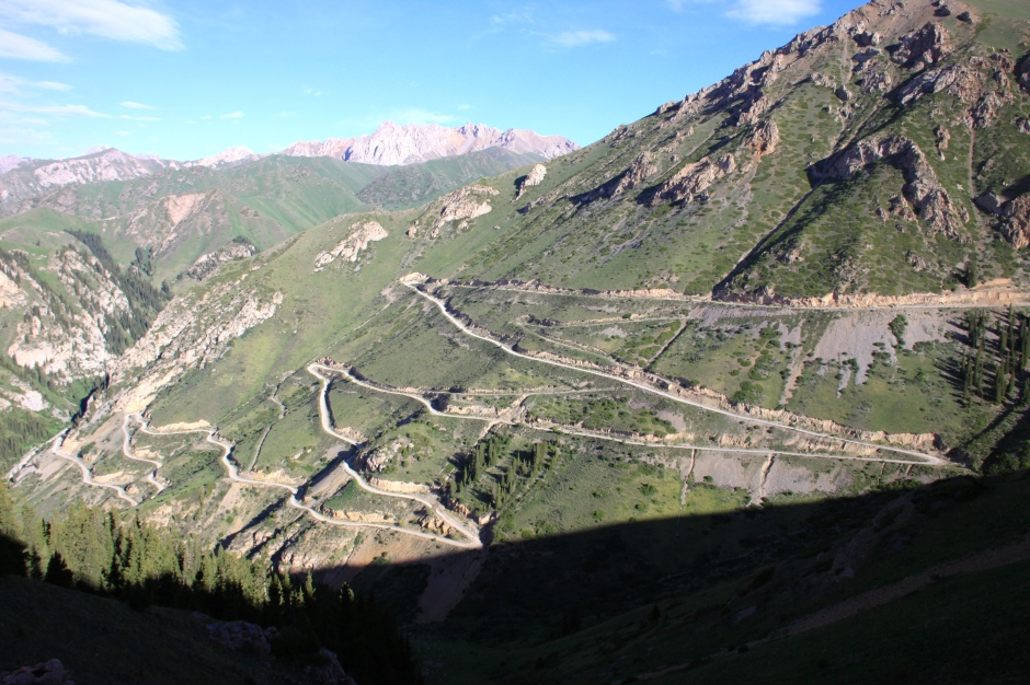 Some of the switchbacks on the descent