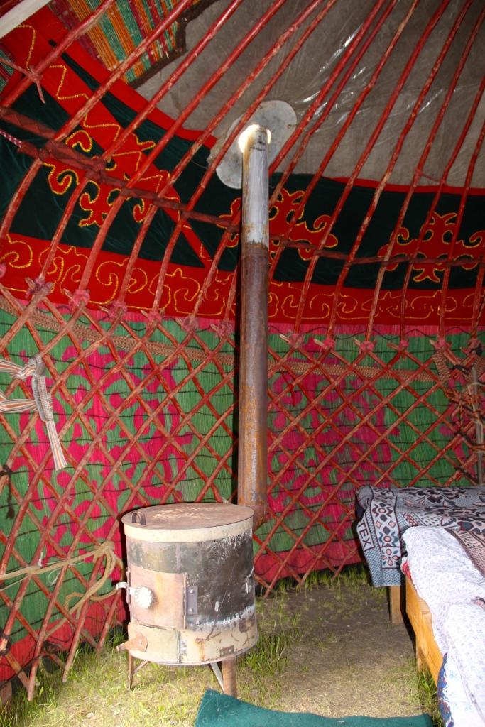 The heater inside my yurt