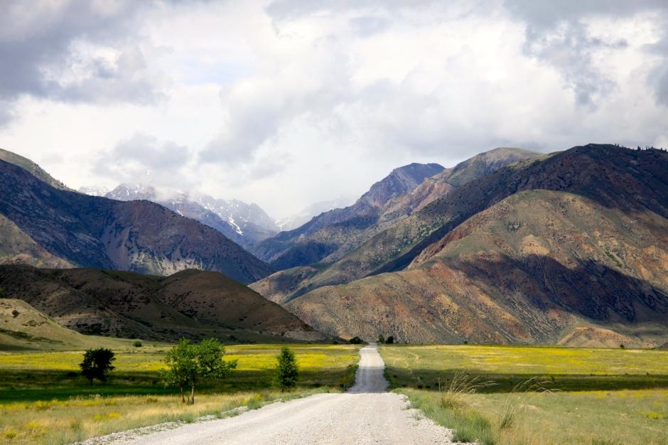 Naryn River valley