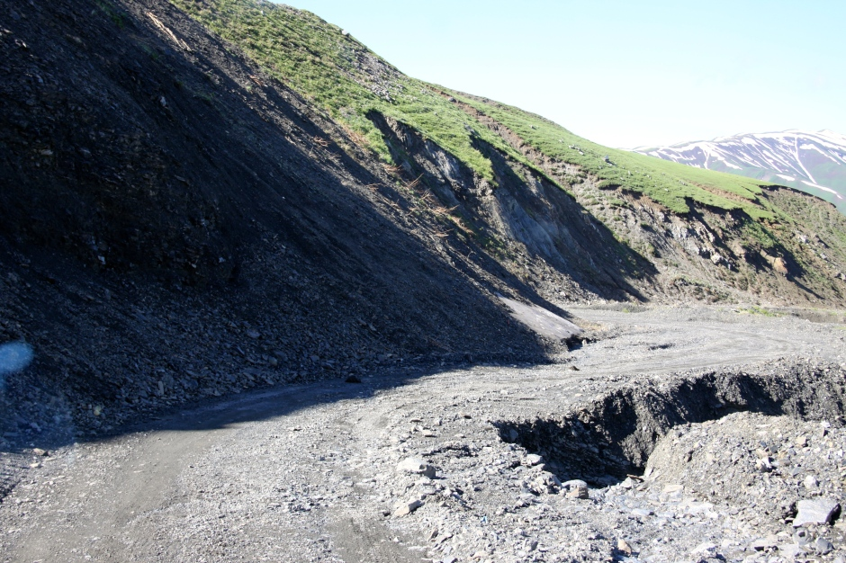 Watch out for the erosion damage - and the steep drop off the side!