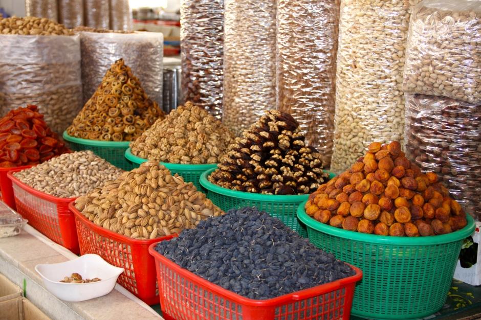 Spices in bazaar