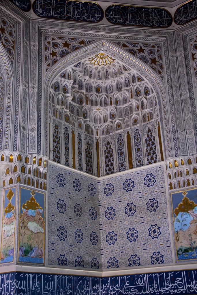 Inside one of the mausoleums