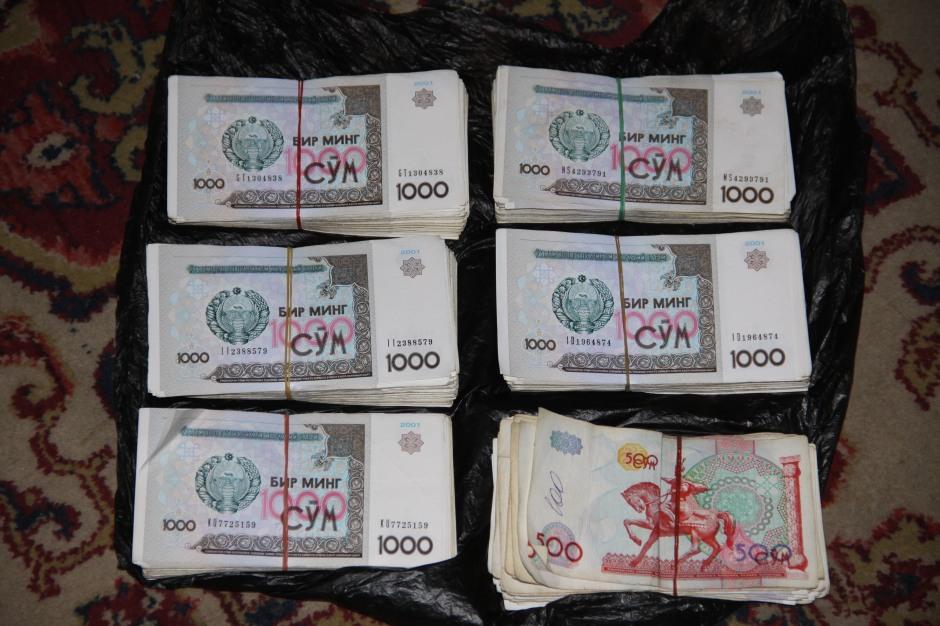 Over a half-million Uzbekistan Som