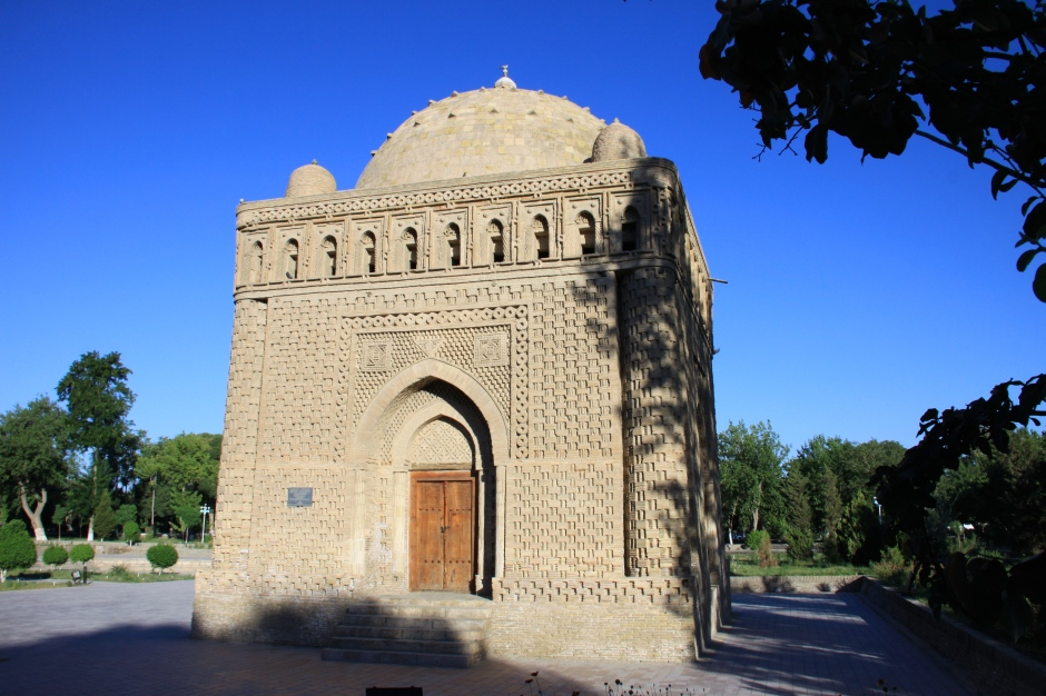 10th century Ismail Samani Mausoleum. One of Bukhara's oldest monuments