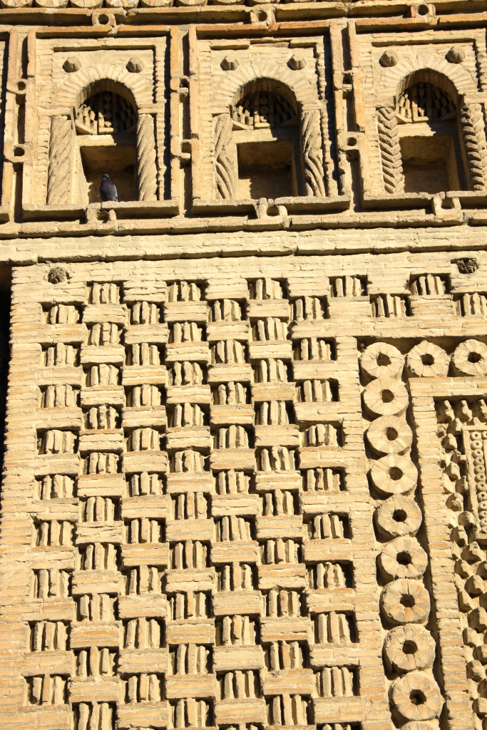 Delicate terracotta brickwork on the Ismail Samani Mausoleum