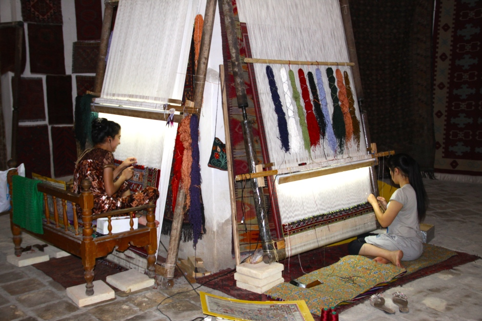 Another two hand-made carpets in progress