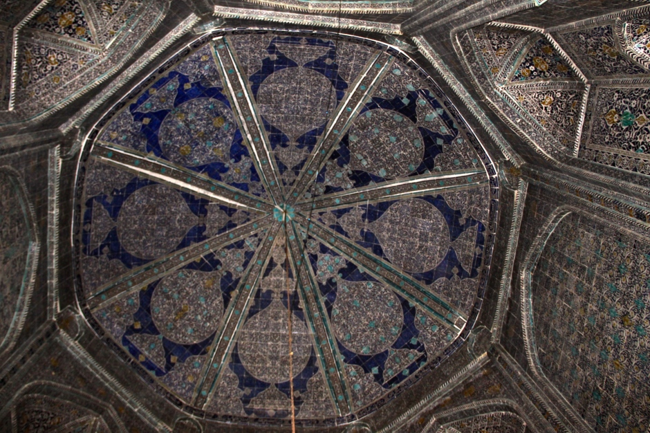 Tiled ceiling in the Pahlavon Mahmud Mausoleum
