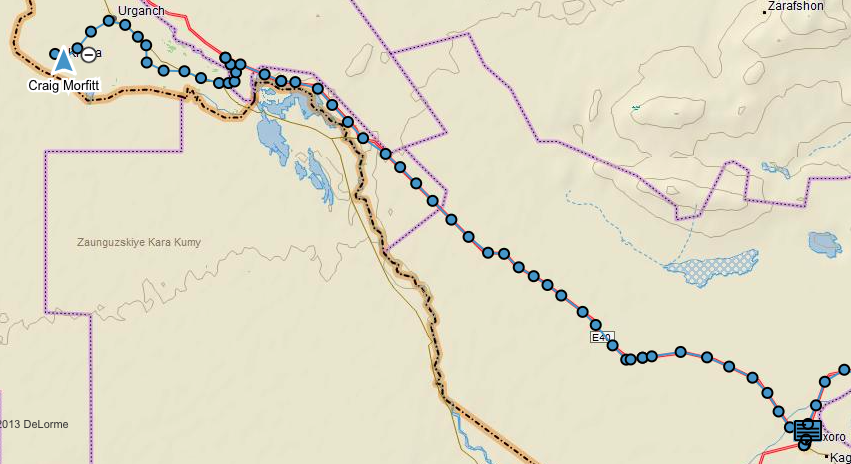 GPS track of today's route