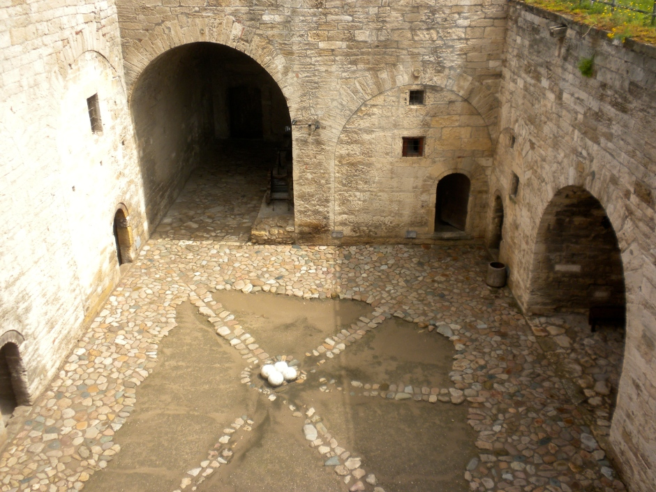 The central courtyard of the fortress