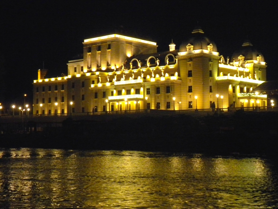 View from the river bank - Skopje