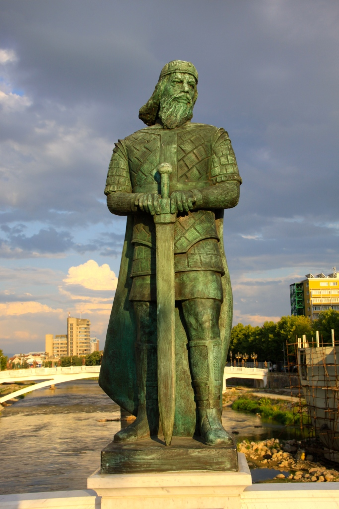 Duke Prebond (7th century AD) - one of the statues on the bridge to the Archeological Museum