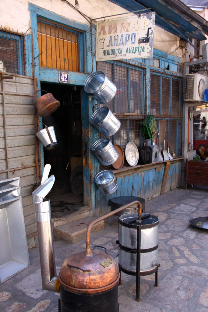 An interesting old-style metalworker's shop - in the old town