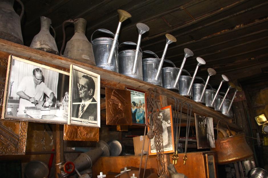 Inside the metalworker's shop
