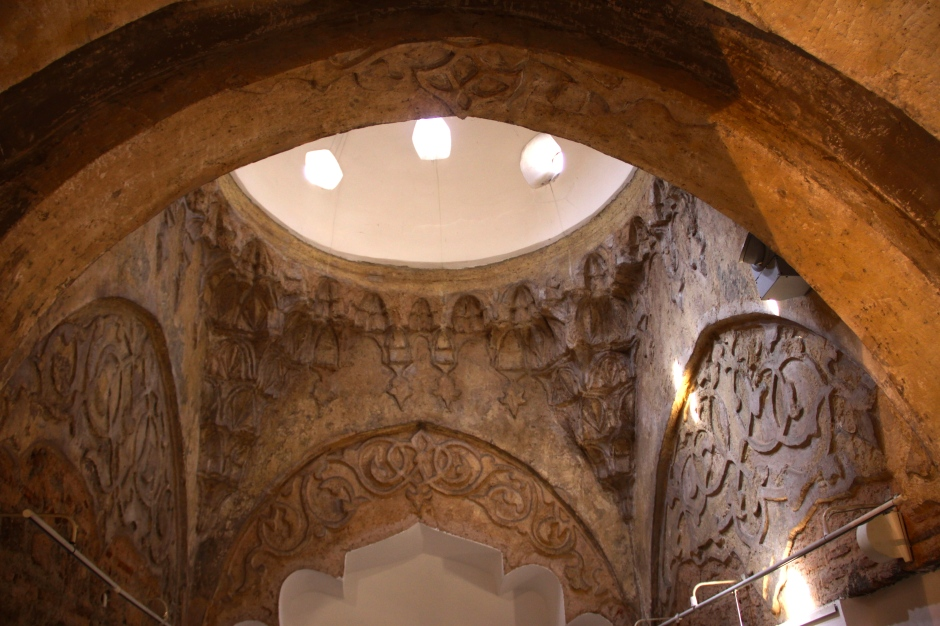 Inside the old hamam (now a gallery)