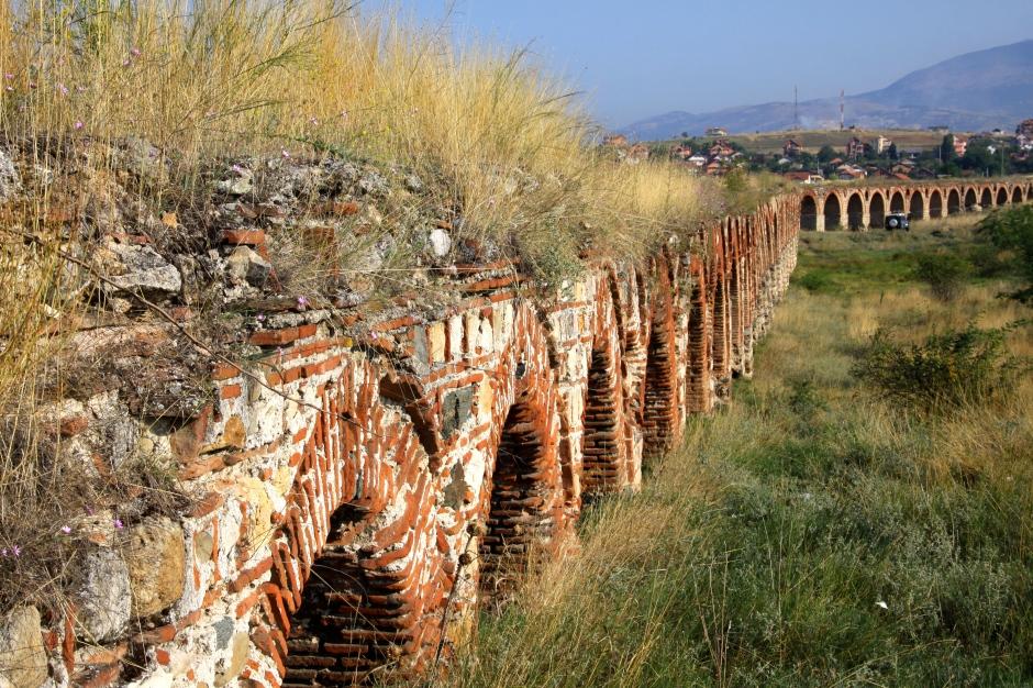 Grasses on the aqueduct