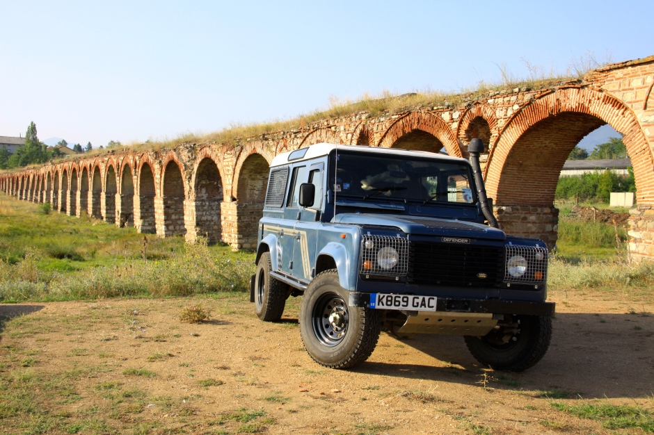 The Defender at the Skopje Aqueduct
