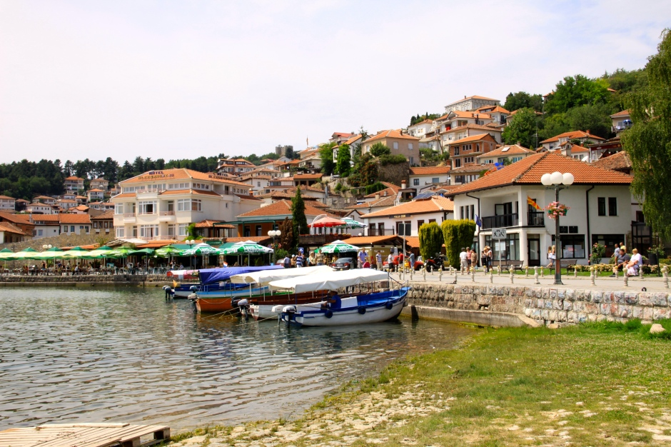 Ohrid has lots of lakeside restaurants and bars