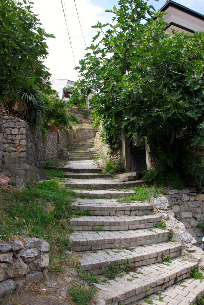 Steps lead you further up the hill