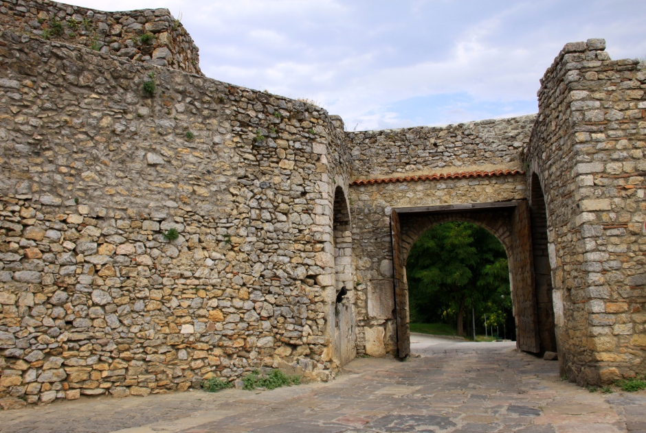The Upper Gate in the old town's fortified walls is still in use for traffic
