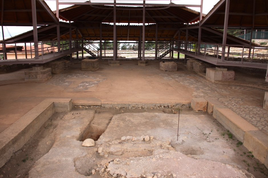 Part of the 4th century basilica in Ohrid