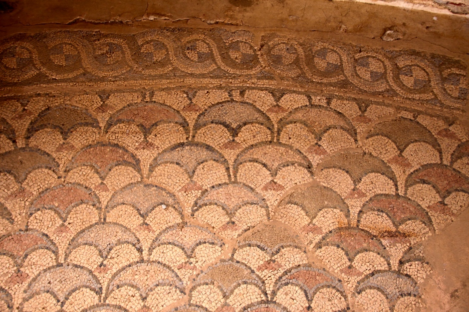4th century mosaic tile floor in the Basilica