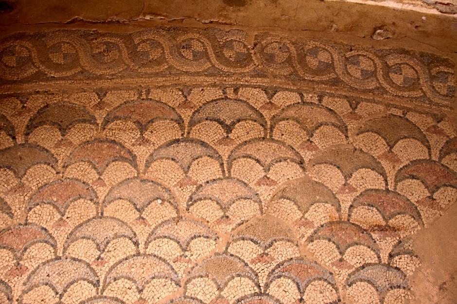 4th century mosaic tile floor in the Basilica