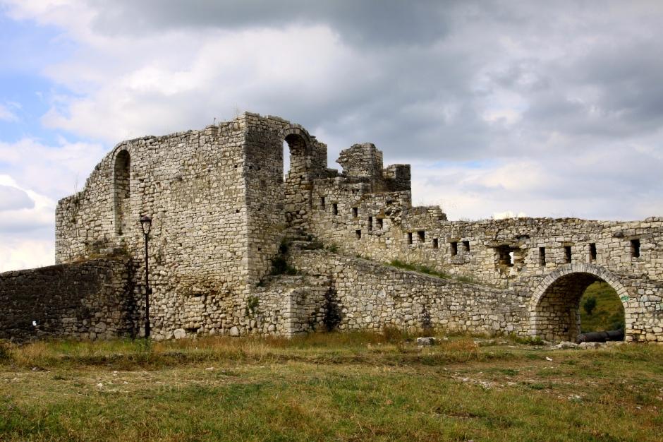 Part of the castle walls