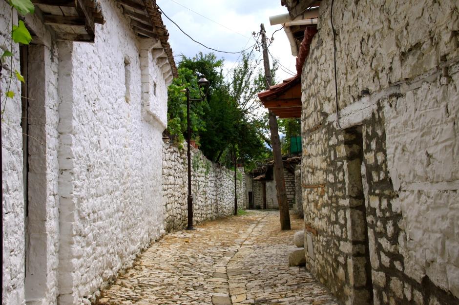 Narrow lane in castle grounds
