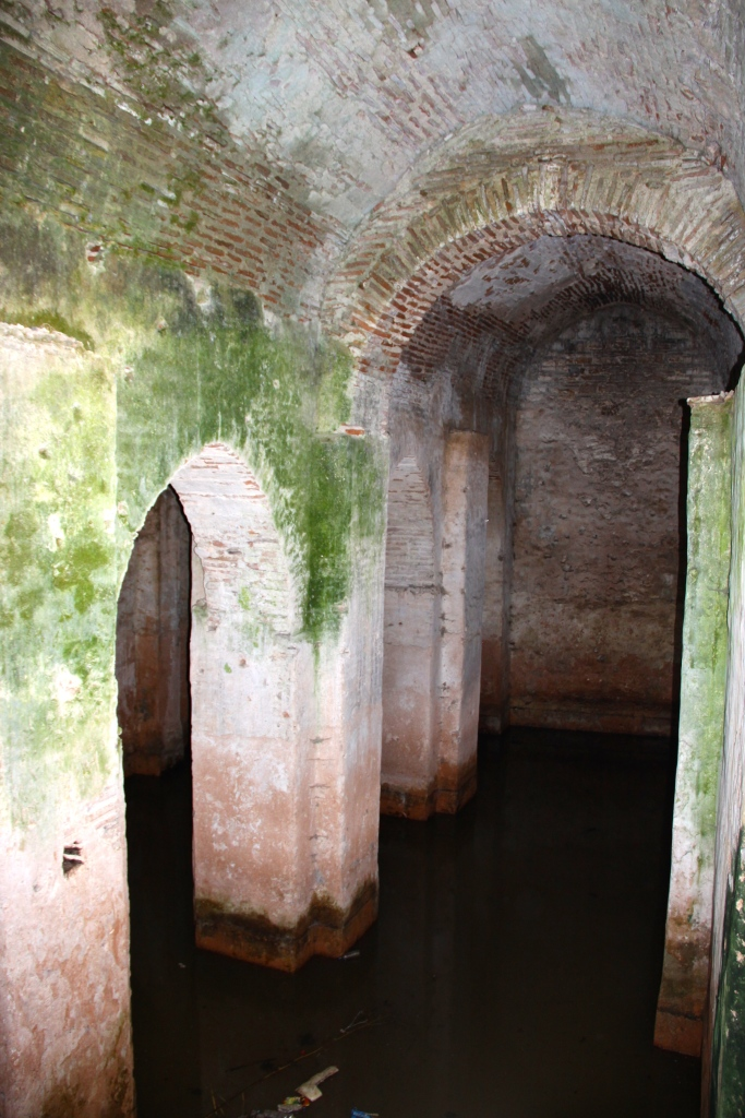 Inside the water cistern