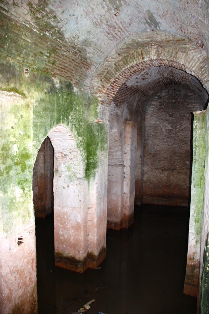 Inside the water cistern
