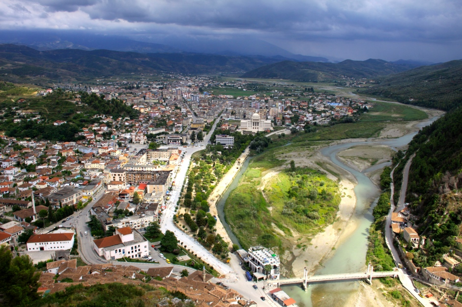 Town of Berat, viewed from the castle above