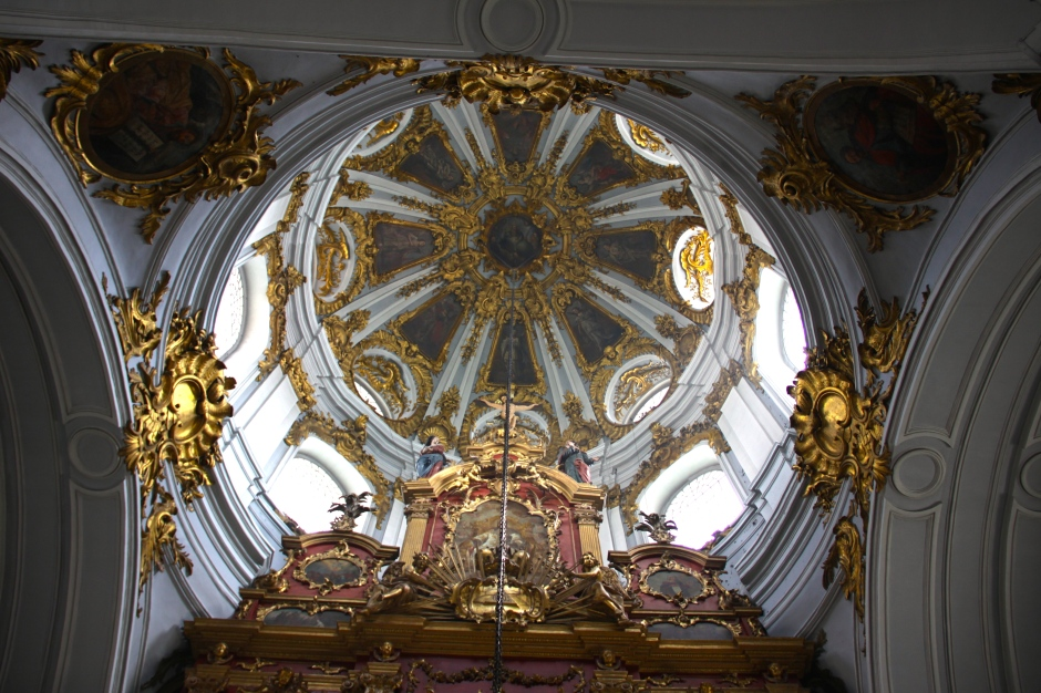 Artwork on the domed ceiling