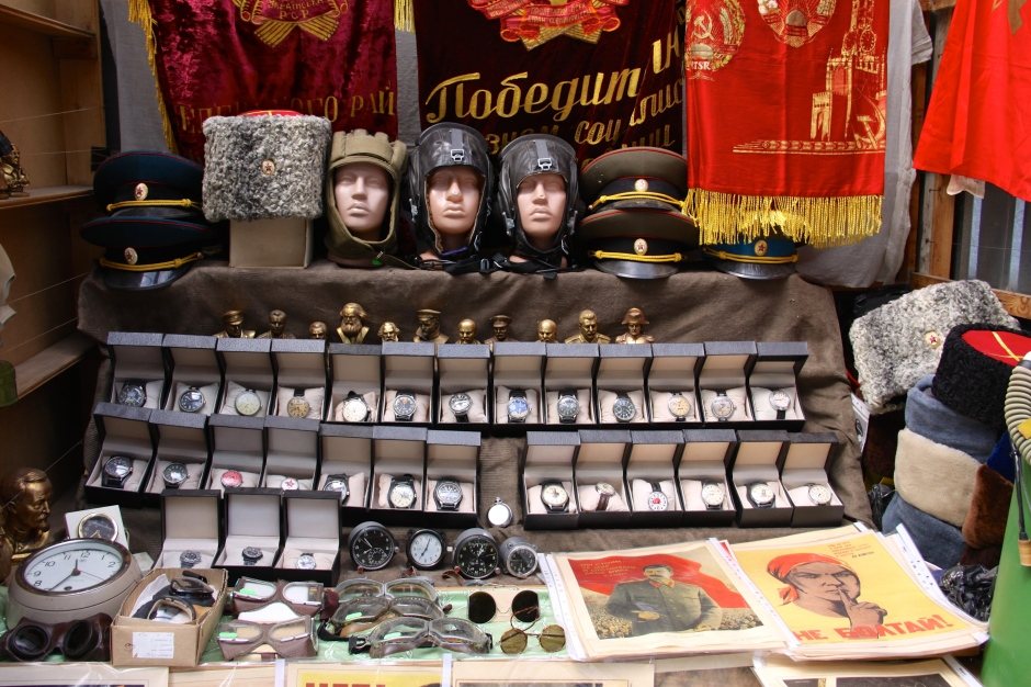Russian watches and hats for sale