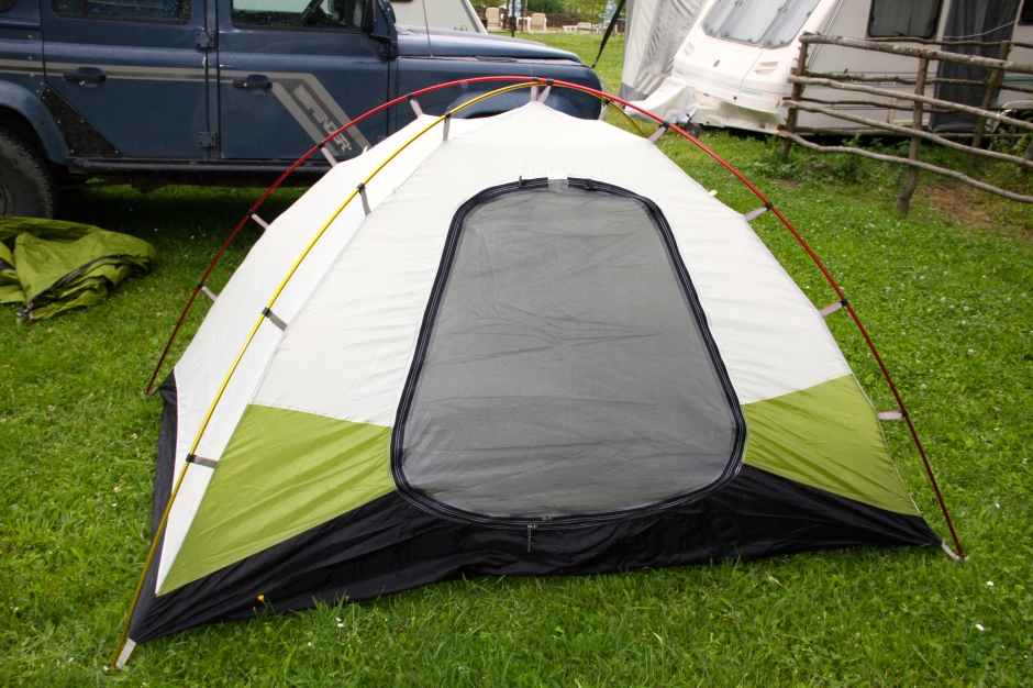 The inner tent has two doors and can be used alone in warm, dry weather