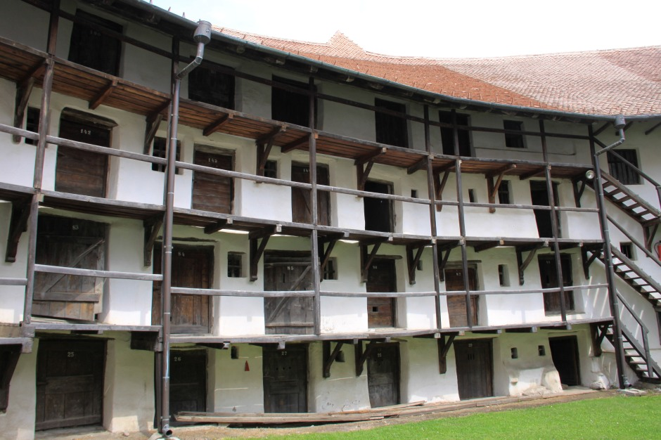 Rooms inside the defensive wall were assigned to each family in the village