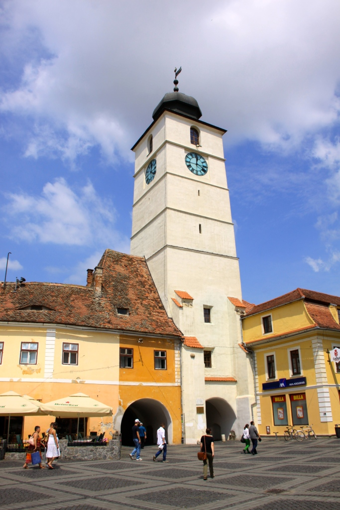 Clock tower on the square