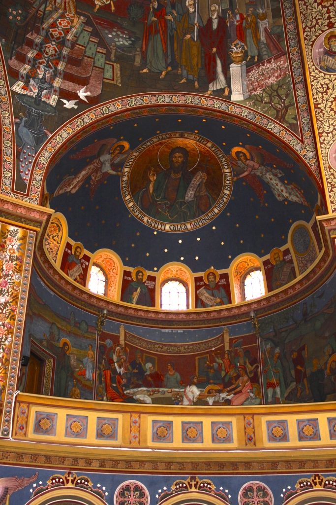 Part of the painted walls - Romanian Orthodox Cathedral