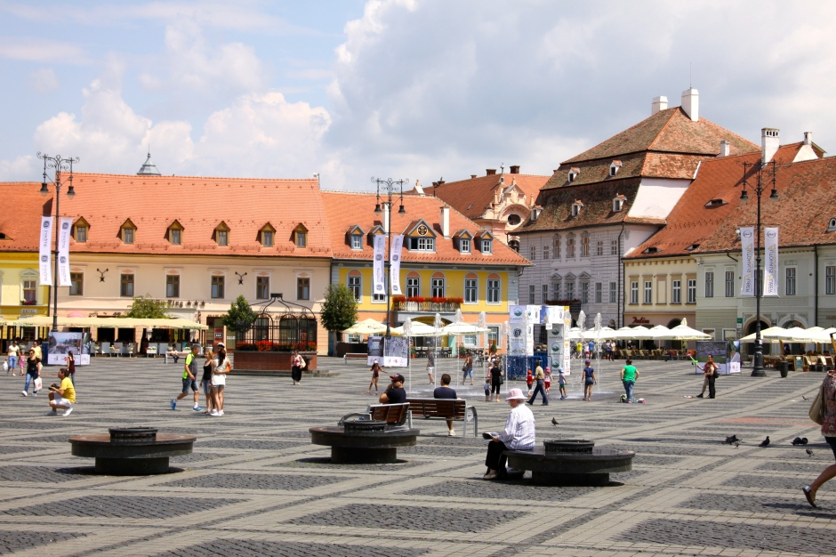 The large town square