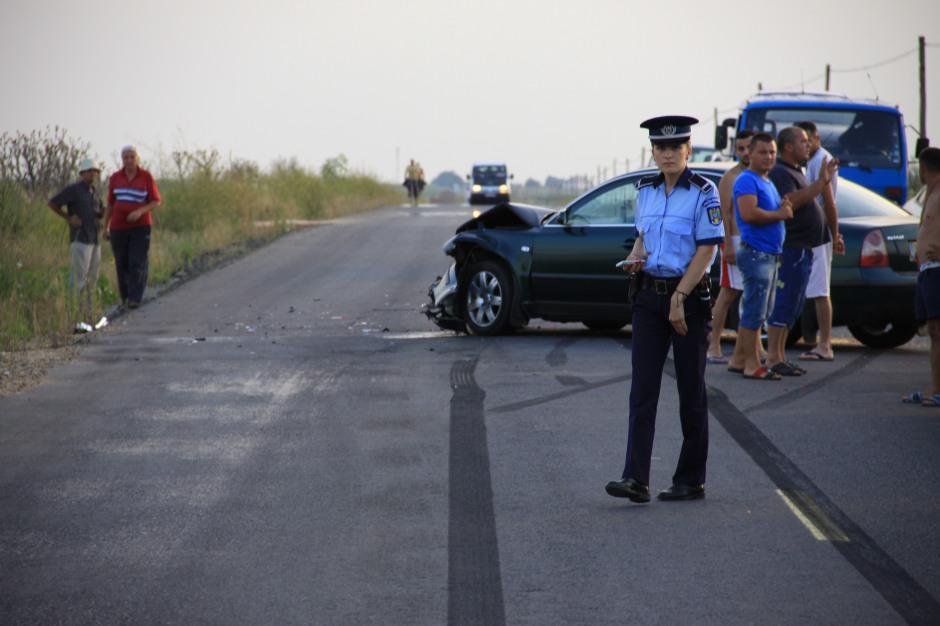 Collision scene near to Calafat