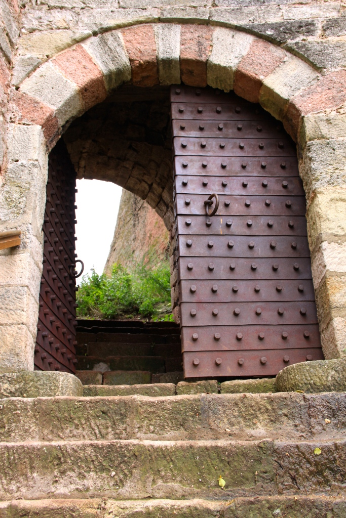 The door into the rock formation fortress