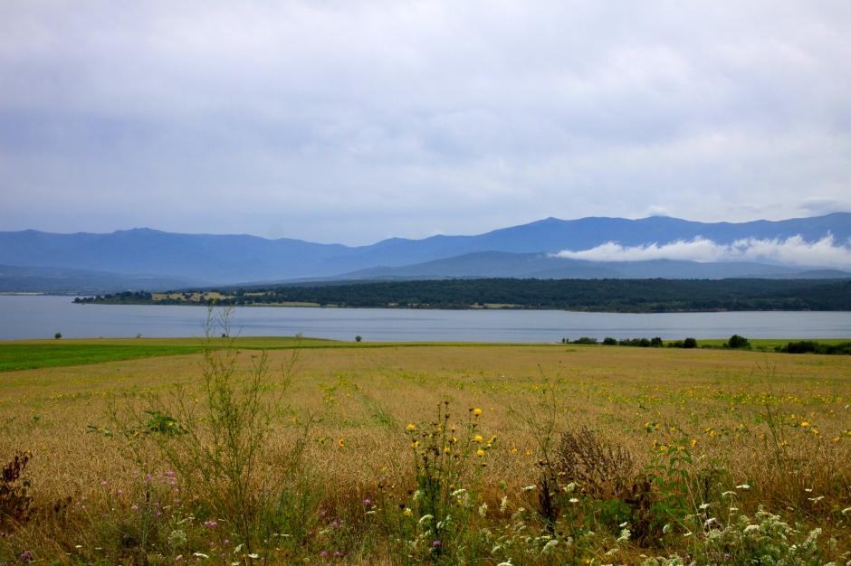 Lake scenery along the 102